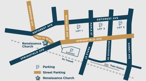 Parking Map around Renaissance Church